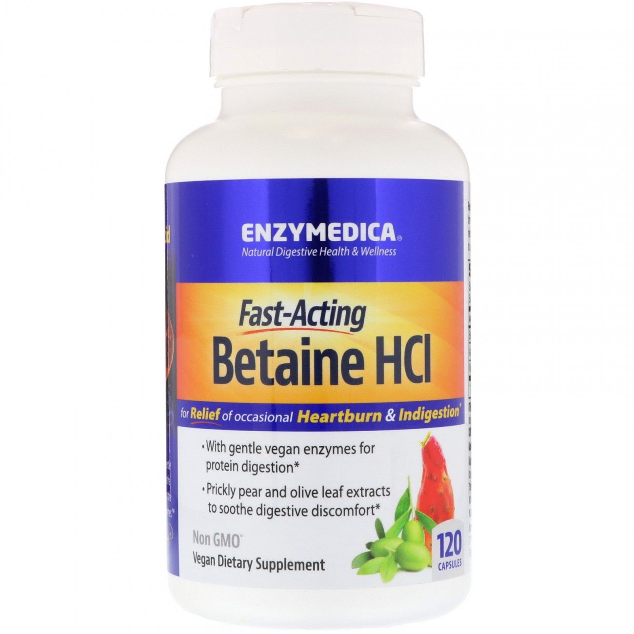 Betaine HCL 600mg 120 Capsules
